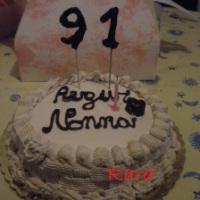 La torta per i 91 anni della mia nonnina!!!