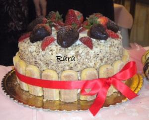 Torta fragolosa per il compleanno della mia Tesora!