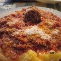 Polenta al sugo di salsiccia di Pitigliano!!!