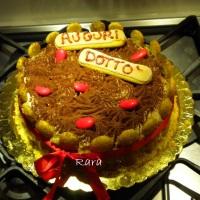 Torta tiramisù decorata per la laurea di Raro! (2°torta!)