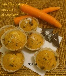 Muffin con carote, cocco e cioccolato!