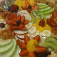 Torta quadro di frutta per Daniela