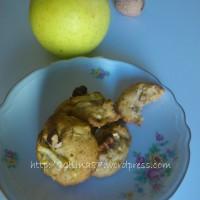biscottini morbidi con mele e noci