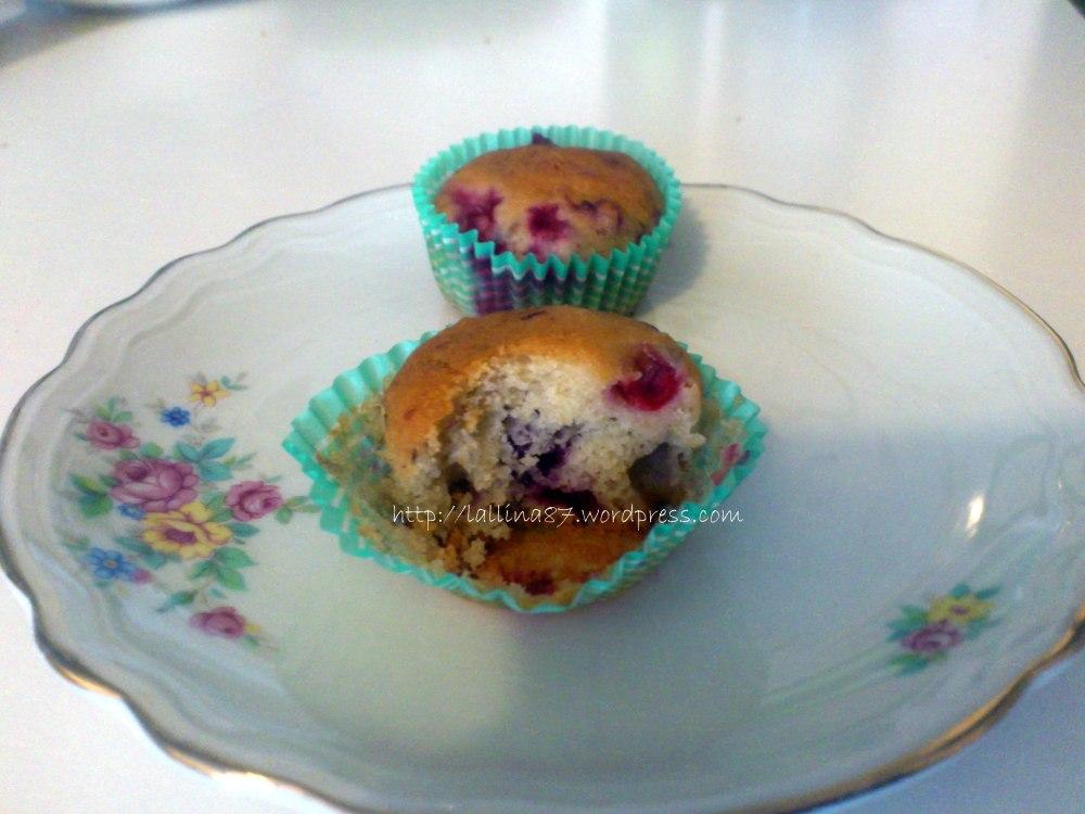 Mini muffin ai frutti di bosco con crema di yogurt (gluten free) (3/6)