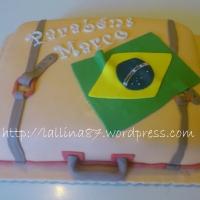 Torta Valigia pronta...per il Brasile!