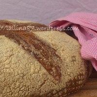 Pane con farina di Kamut (90%) e lievito naturale