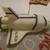 Torta shuttle sulla luna per la laurea di Ale!