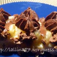 Crostata pere, crema e ganache al cioccolato