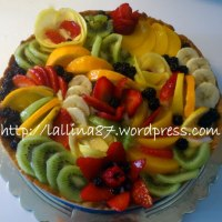 Quadro di frutta in un guscio di frolla!