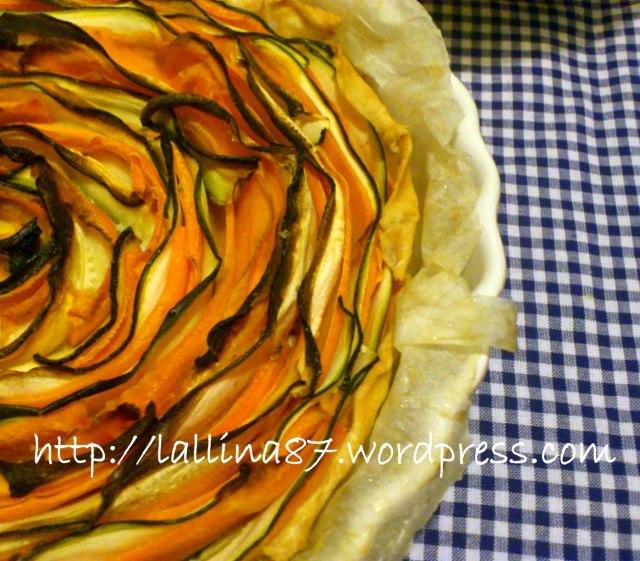 crostata salata petali zucchine e carote (3)