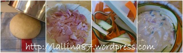 crostata salata petali zucchine e carote