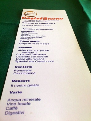 raduno 25 aprile menu