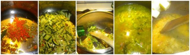 risotto filante con le zucchine
