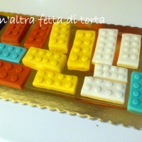 Legos Cake: torta Lego a forma di numero 1